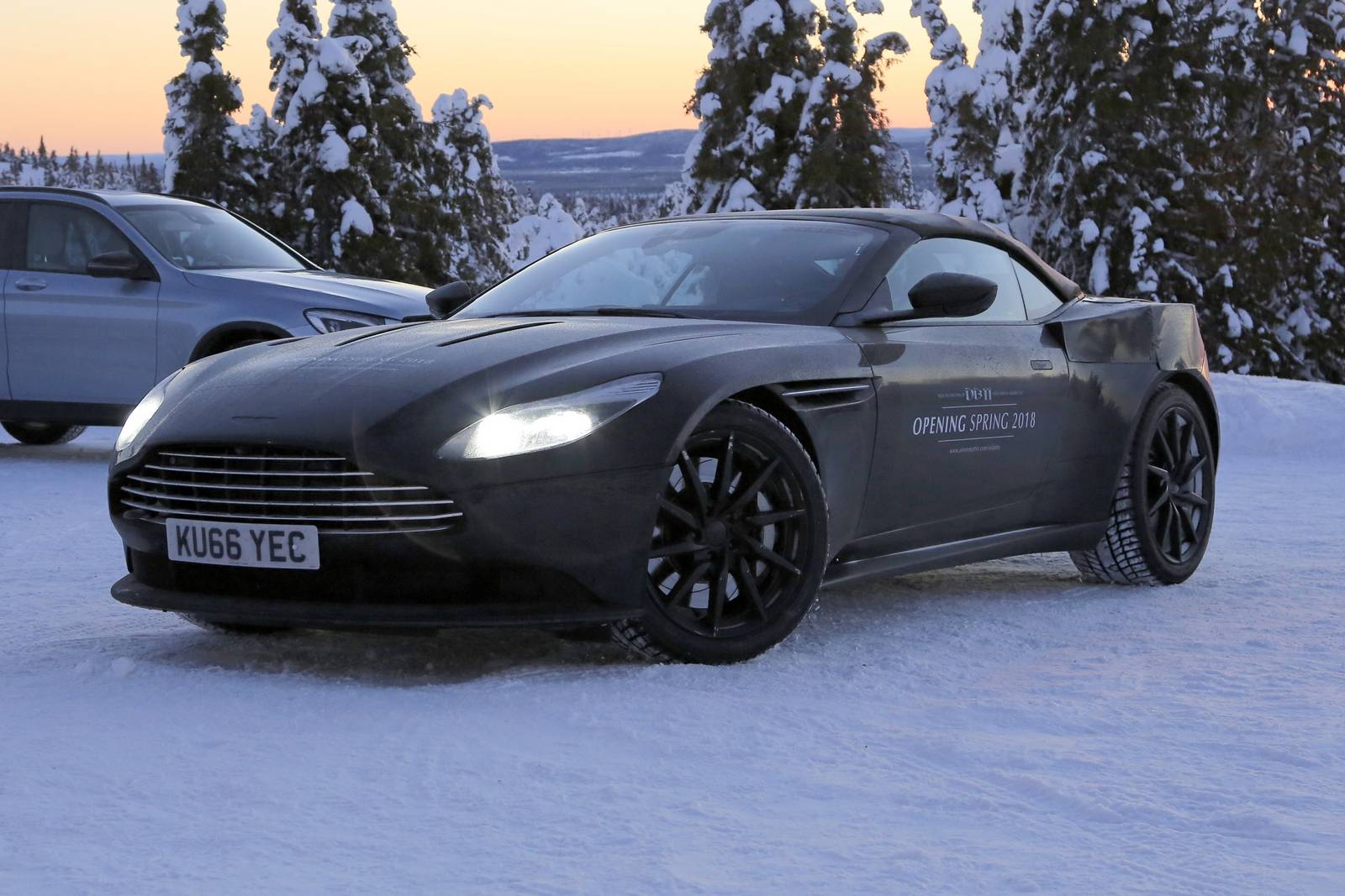2018 Aston Martin DB11 Volante First Spy Shots