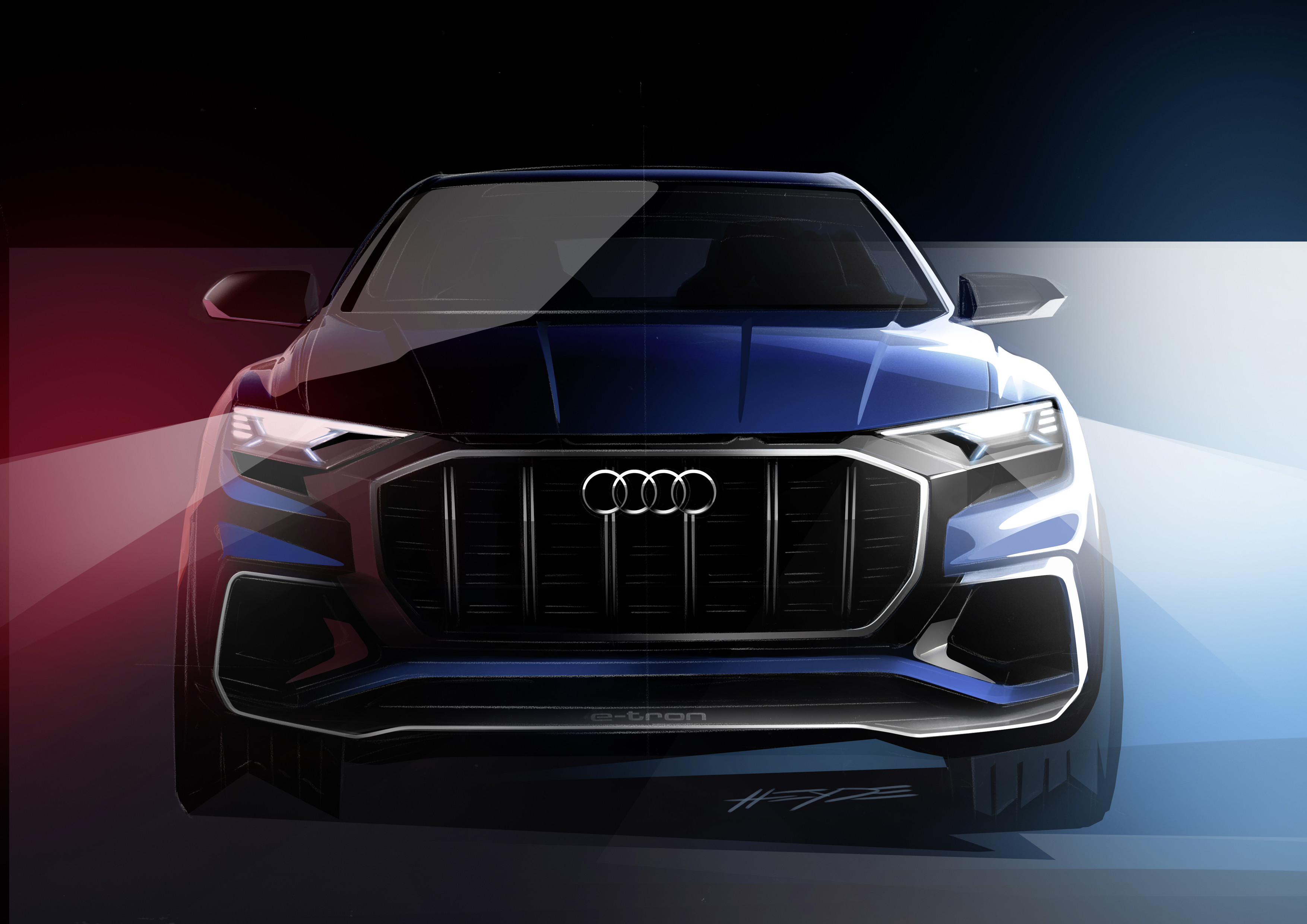 Audi Q8 SUV Coupe Teased Ahead of Detroit 2017 Debut
