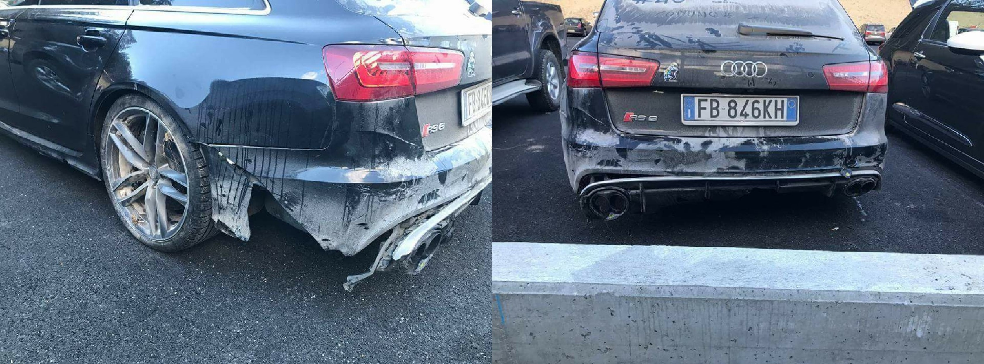 Valentino Rossi Crashes Audi Rs6 In Italy Gtspirit