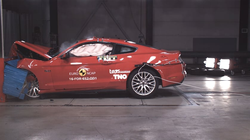 Ford Mustang Fails European Crash Test, Scores 2 Stars (with Video)