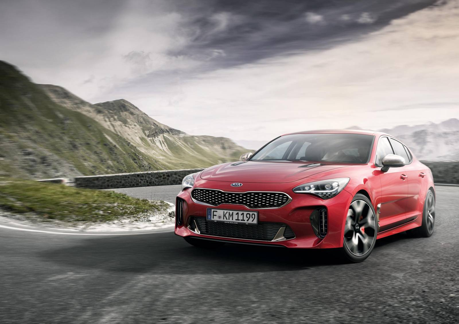 official kia stinger gt with 365hp v6 twin turbo gtspirit. Black Bedroom Furniture Sets. Home Design Ideas