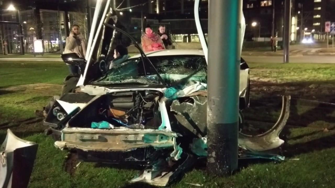 Video: Ex-Jon Olsson RWD Lamborghini Murcielago Crashed in Rotterdam