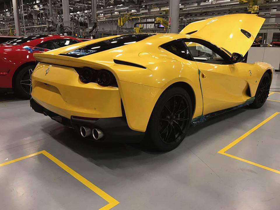 first live photos of 2018 ferrari 812 superfast gtspirit. Black Bedroom Furniture Sets. Home Design Ideas