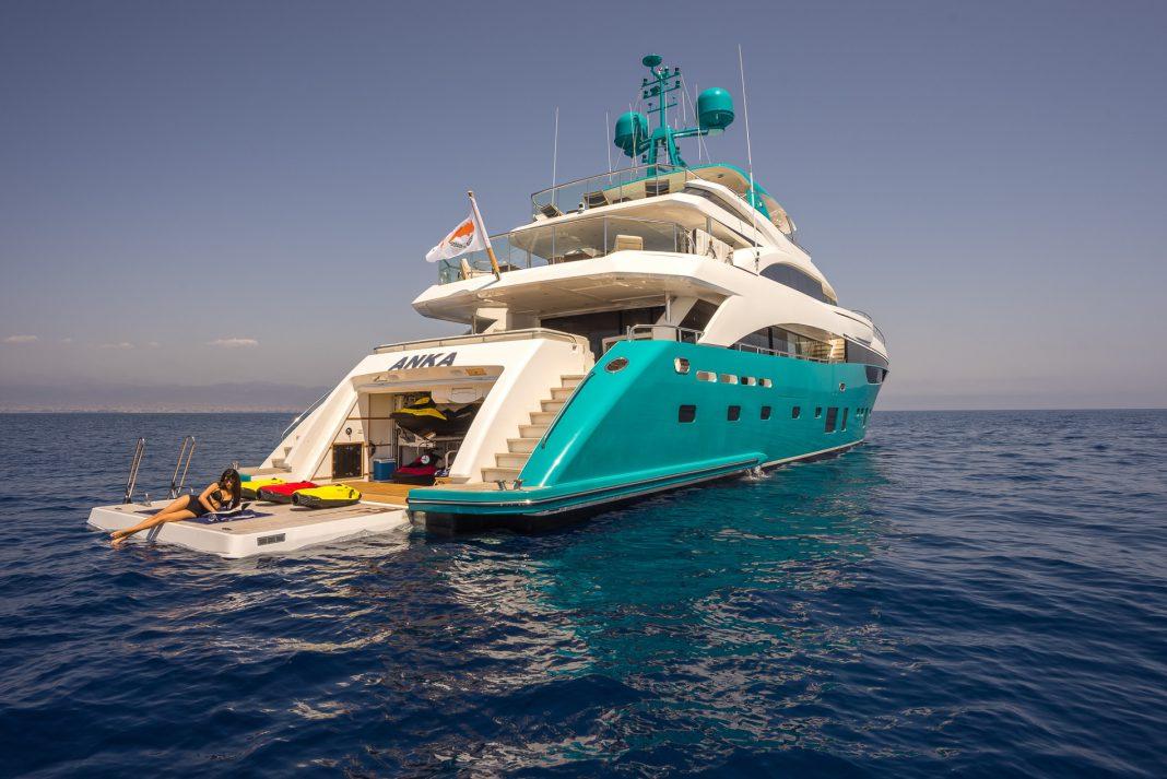 Superyacht Sunday: Beautiful Turqoise Anka Yacht with €135,000 a Week Charter