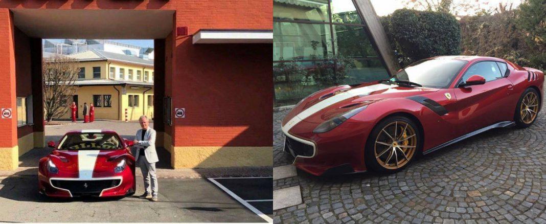 Horacio Pagani Picks up His New Ferrari F12tdf