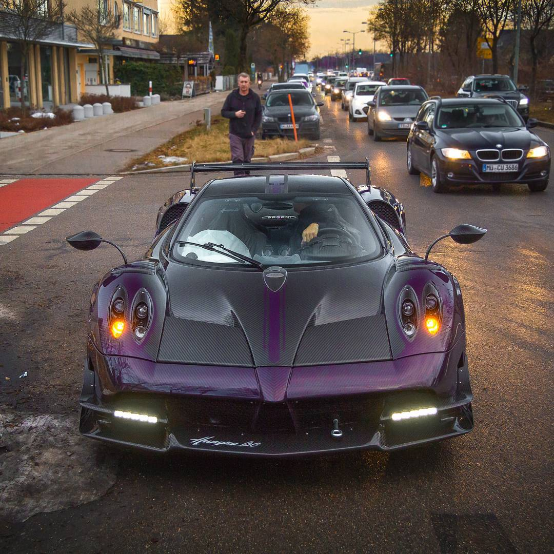 2nd Pagani Huayra BC Arrives in Munich...Now in Purple ...