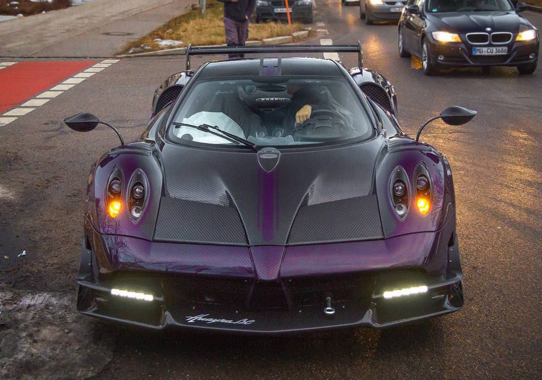 2nd Pagani Huayra BC Arrives in Munich…Now in Purple
