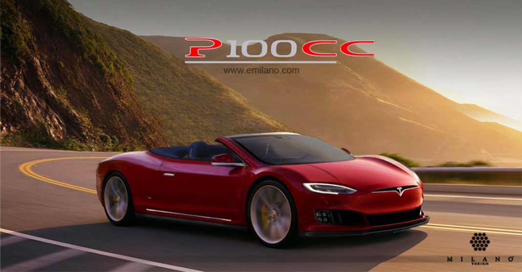 Tesla Model S Rendered as Coupe and Cabrio