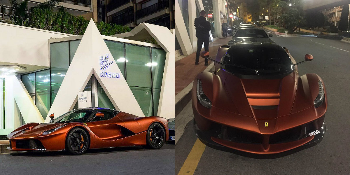 One,Off Rame Opaco Ferrari LaFerrari Wows in Monaco , GTspirit