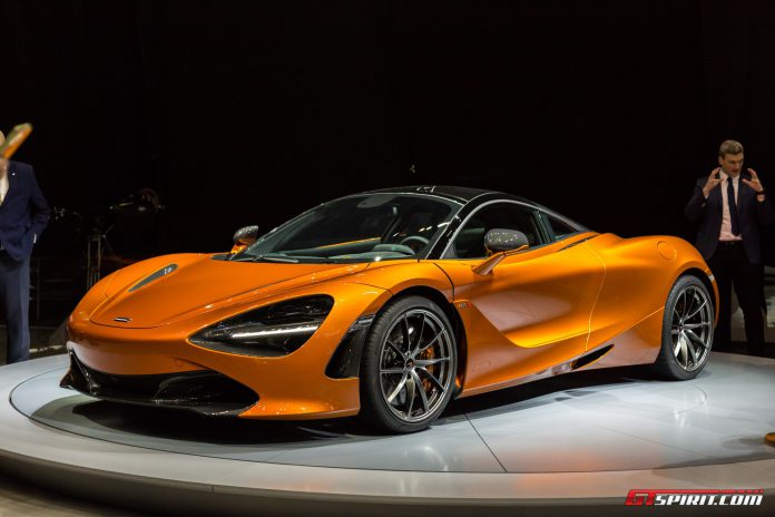 McLaren 720S on display at the Geneva Motor Show 2017
