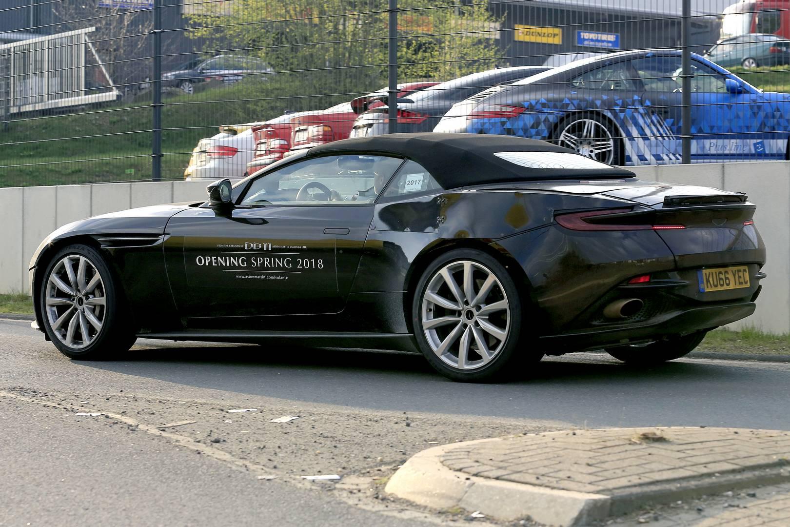 2019 Aston Martin Db11 Volante Spy Shots Gtspirit