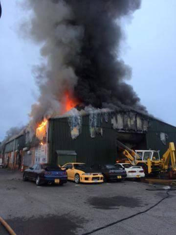Warehouse Full of JDM Cars Burns Down in the UK - GTspirit
