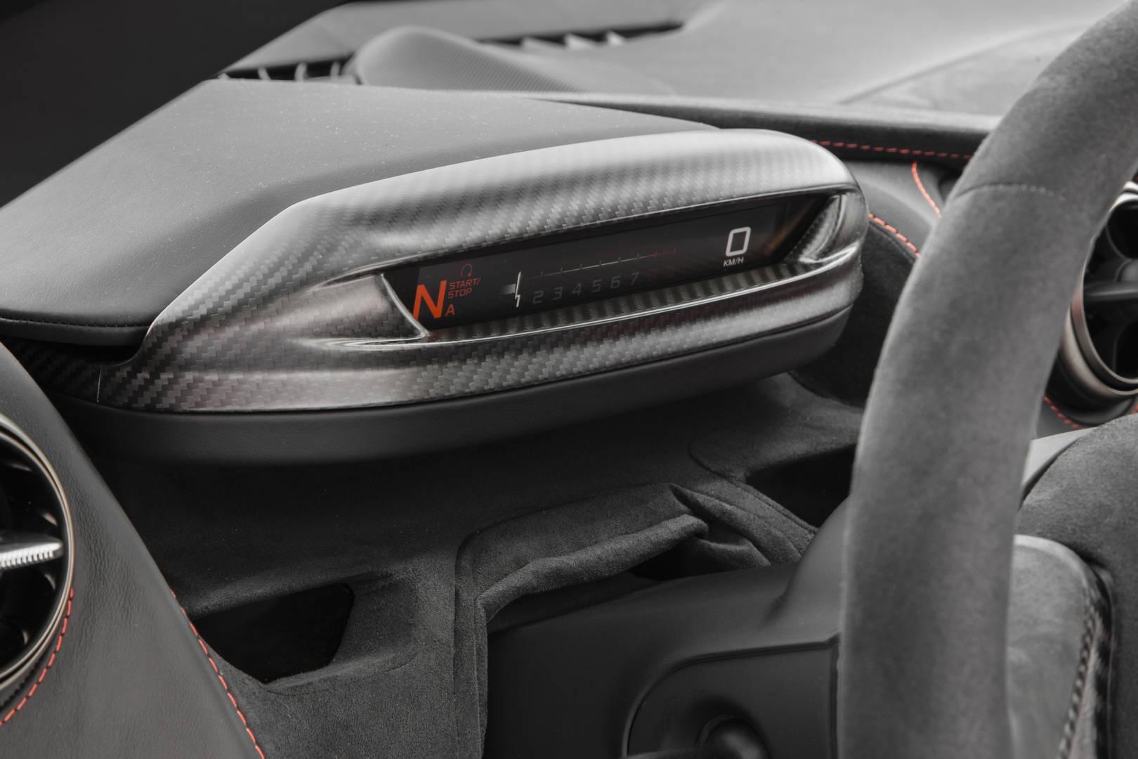 McLaren 720S Driver Display