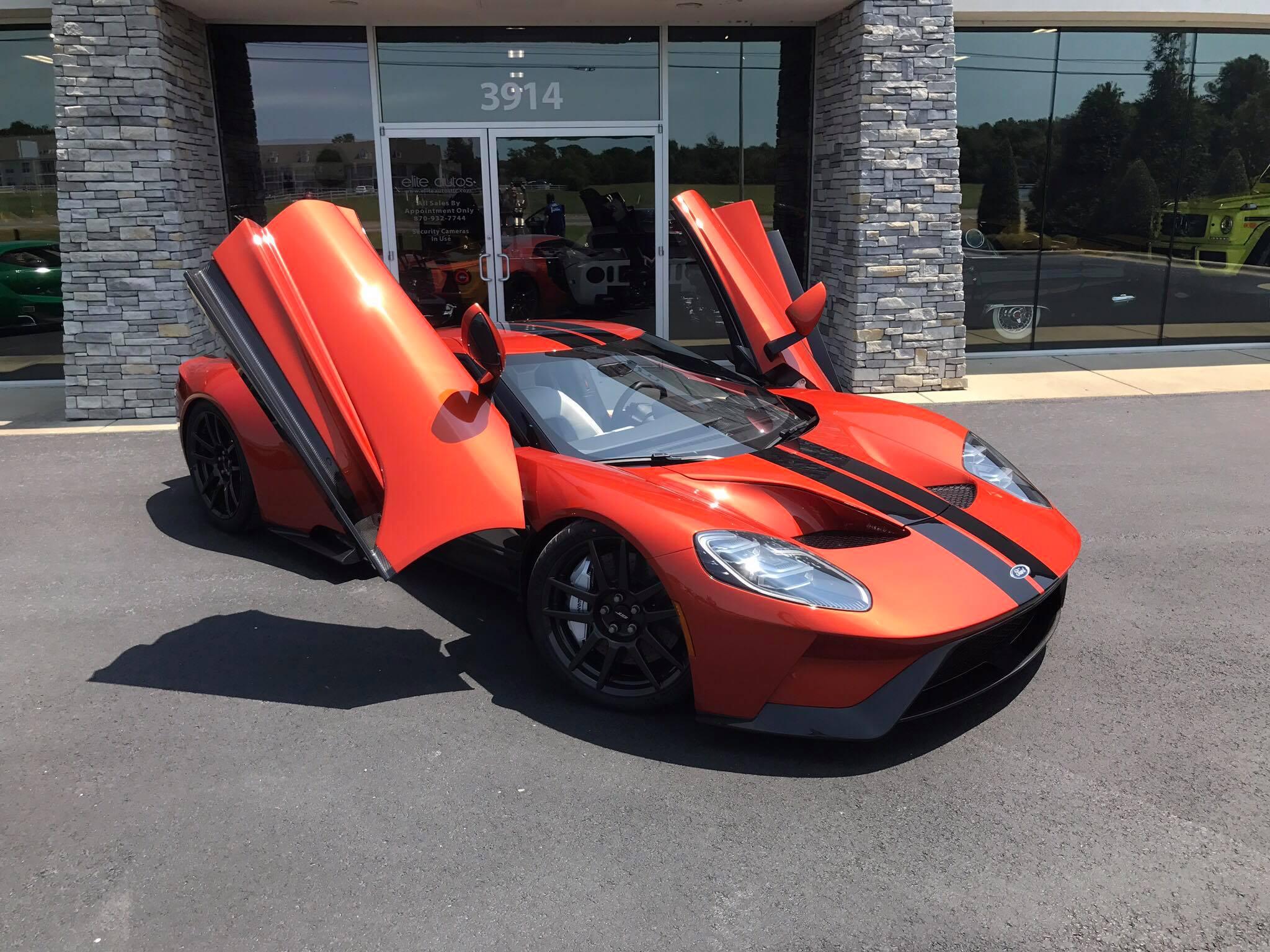 Beryllium Orange Ford Gt