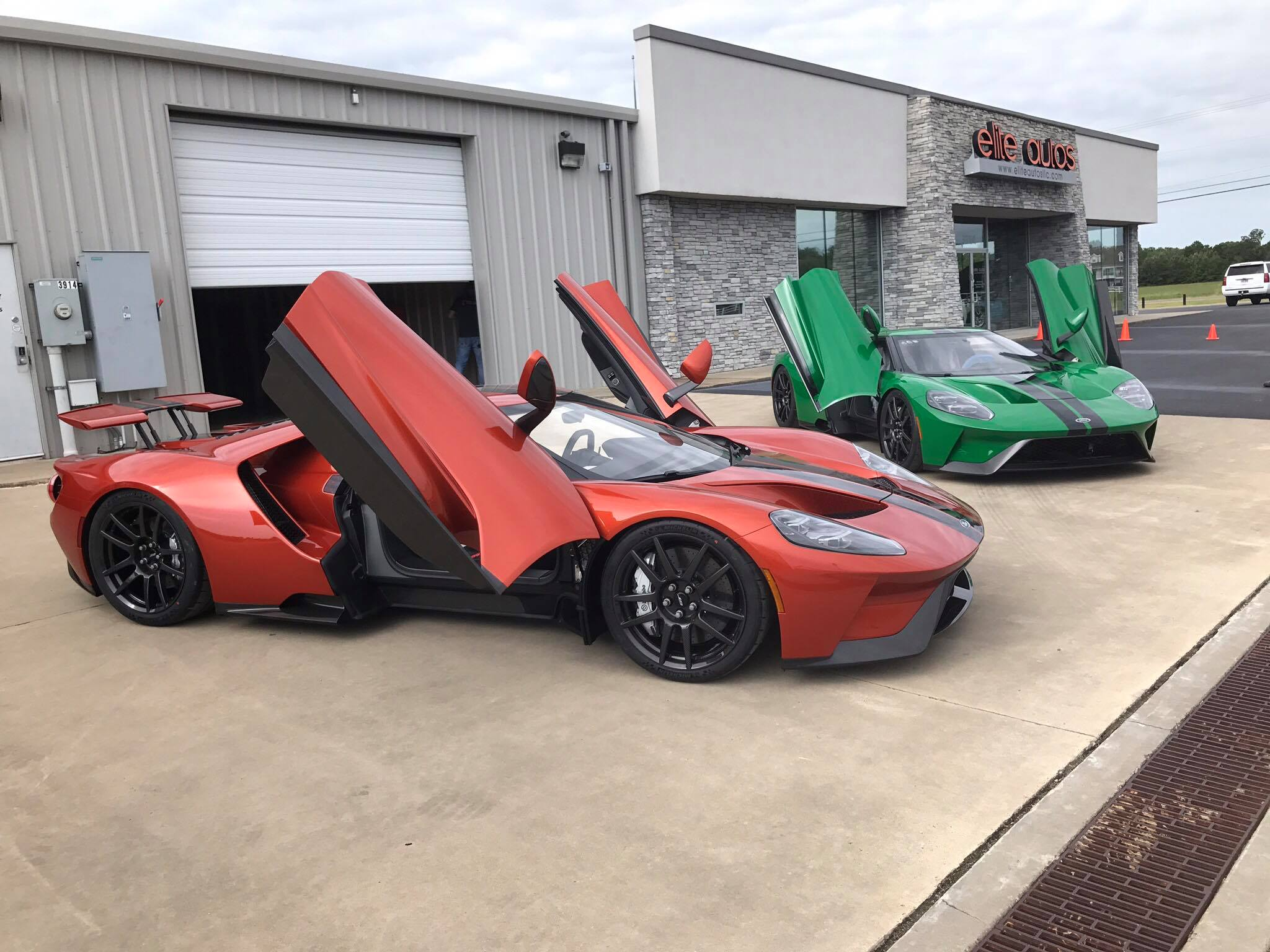 Two Unique  Ford Gts Delivered Beryllium Orange Atlas Green