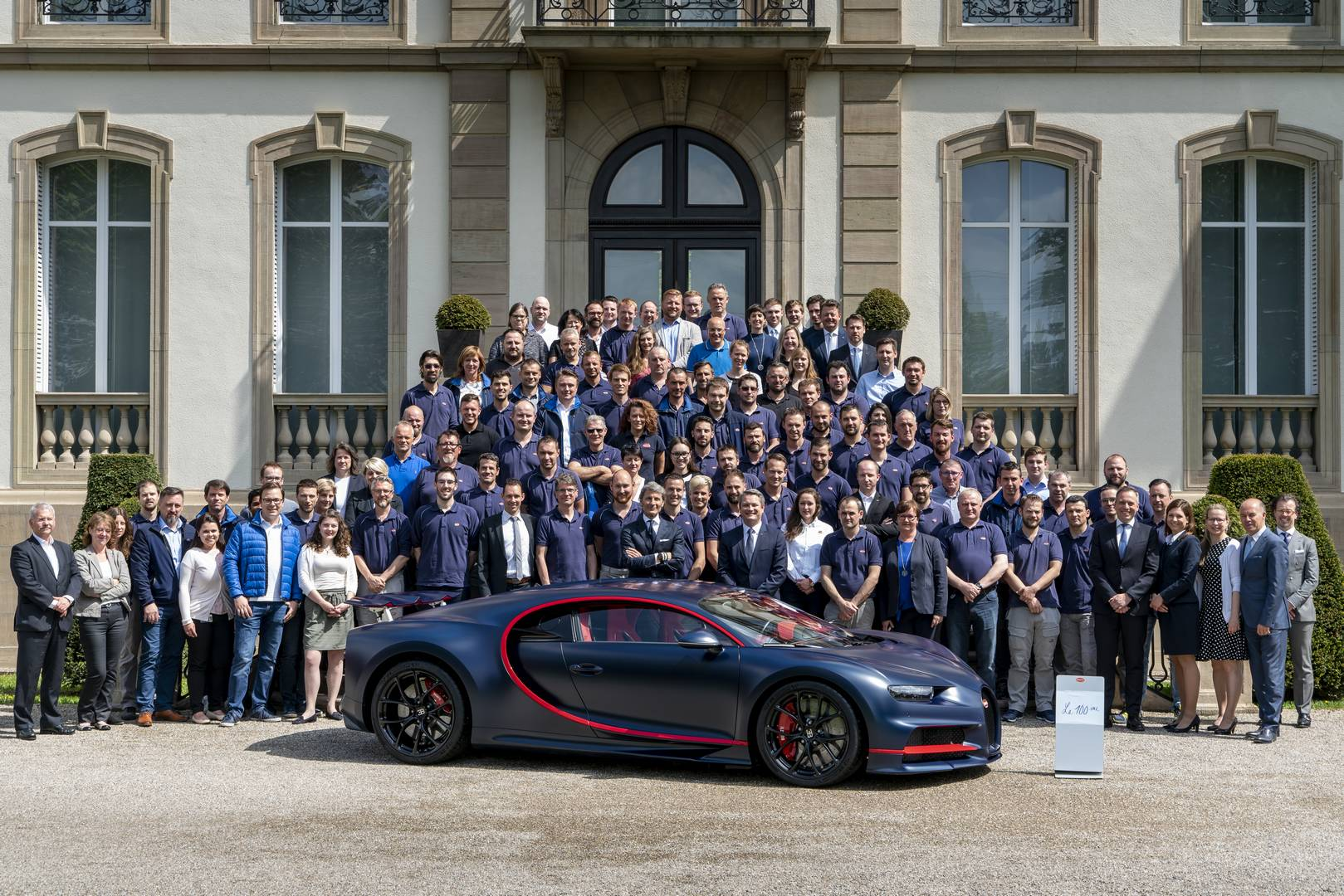 100th Bugatti Chiron Leaves The Factory Unique Matte Blue Carbon Gtspirit