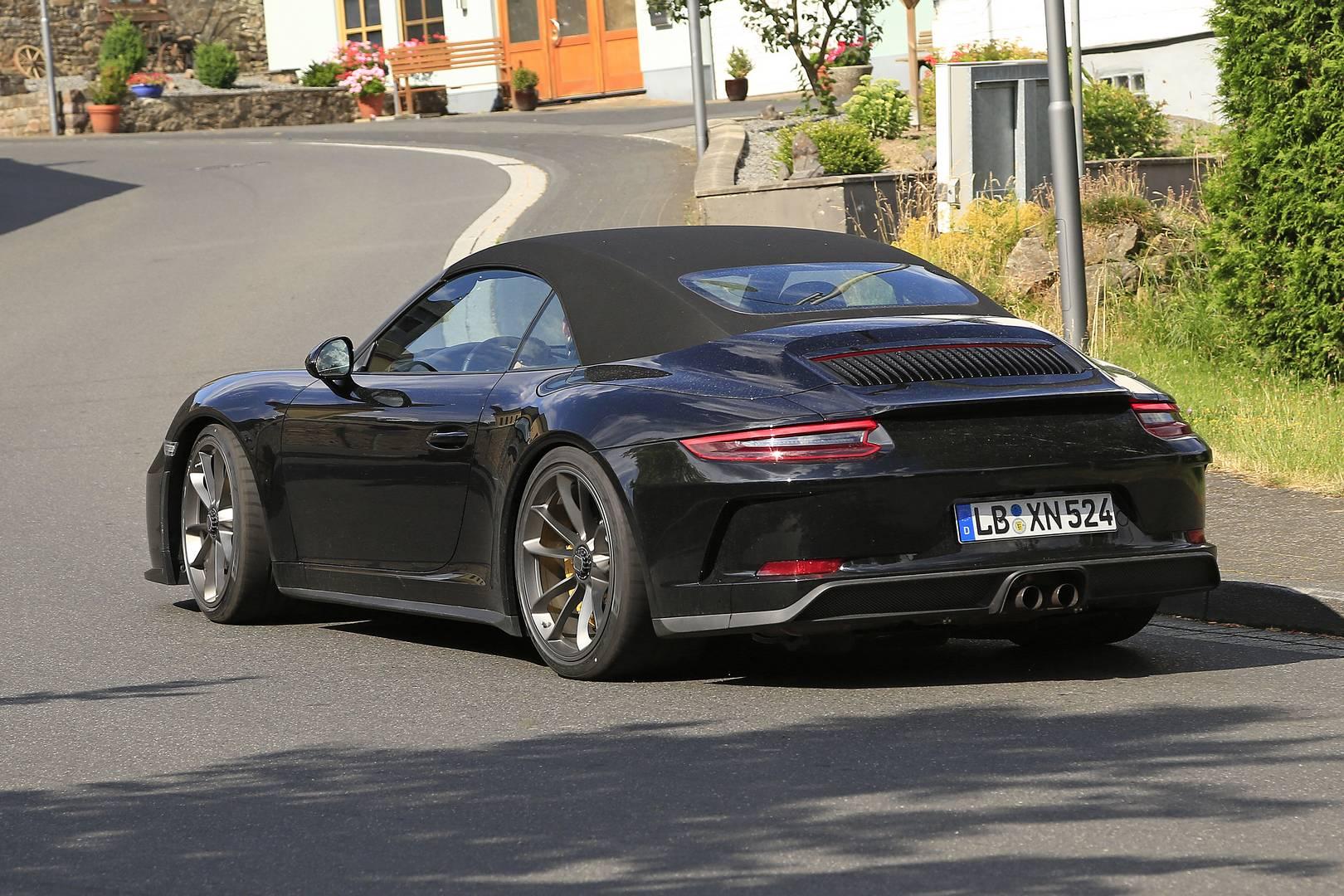 Porsche 911 Gt3 Touring Cabriolet First Spy Shots