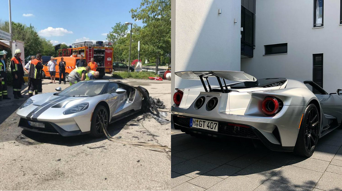Ford Gt That Burned Down In Germany Replaced With A New One