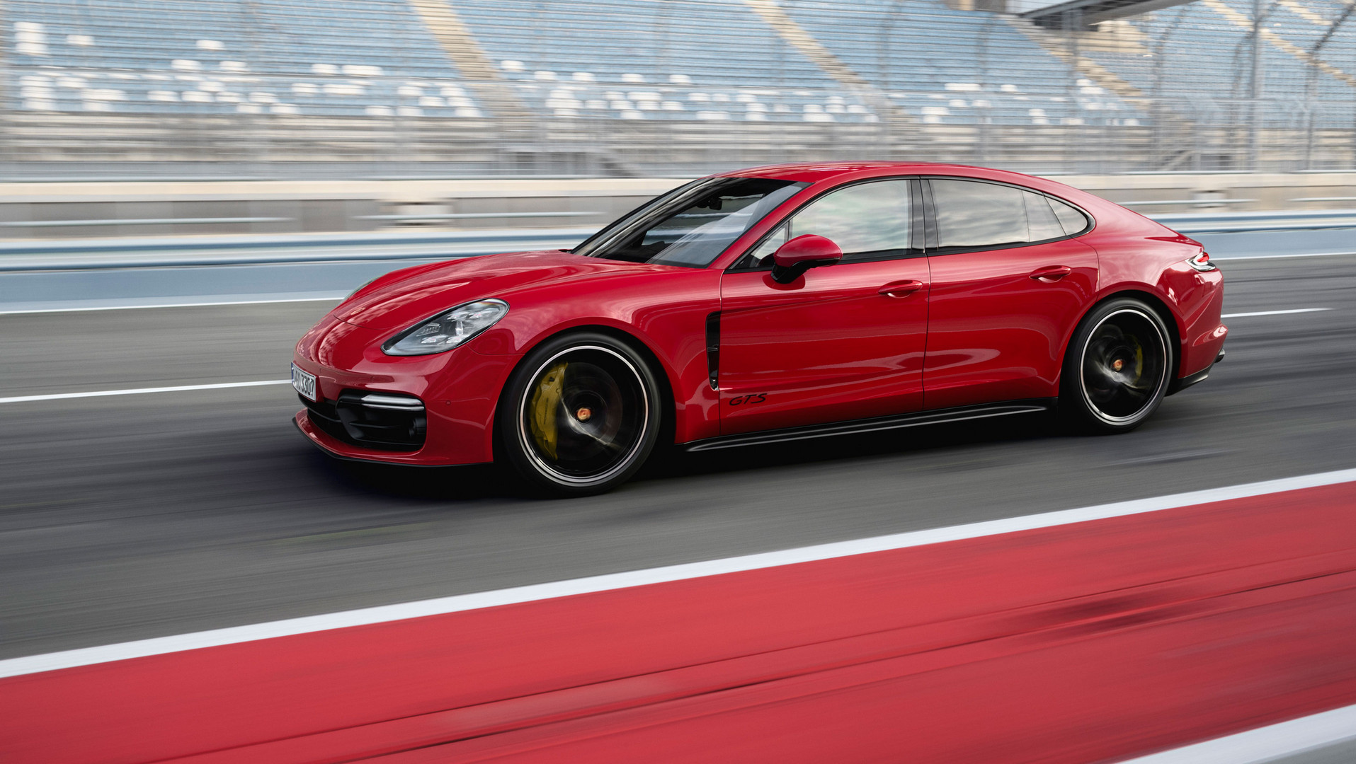Red 2019 Porsche Panamera GTS