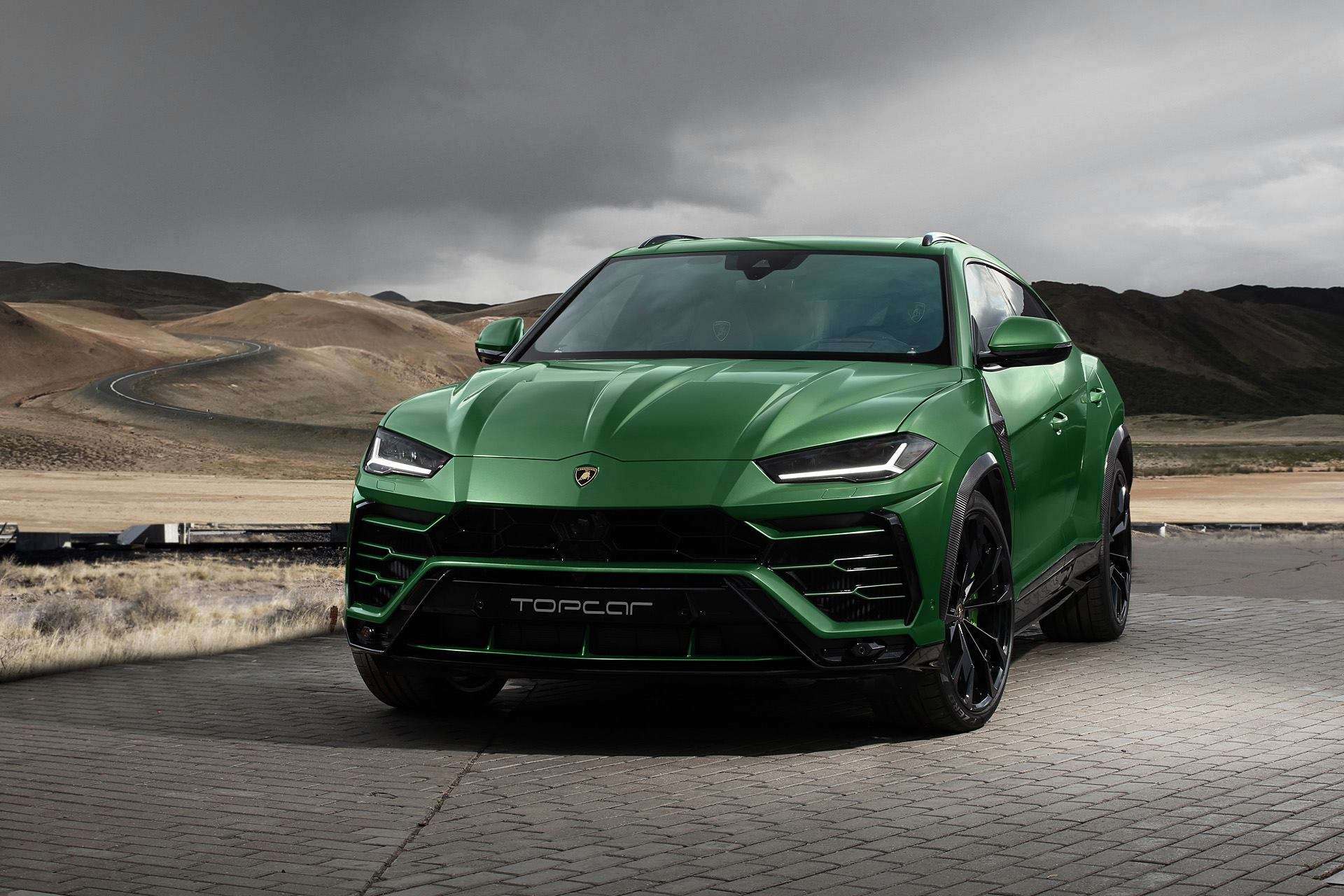 topcar lamborghini urus revealed with military green paint andwhat\u0027s more, topcar plan to show another urus soon which will add modifications to the bottom part of the front bumper, a larger rear diffuser,