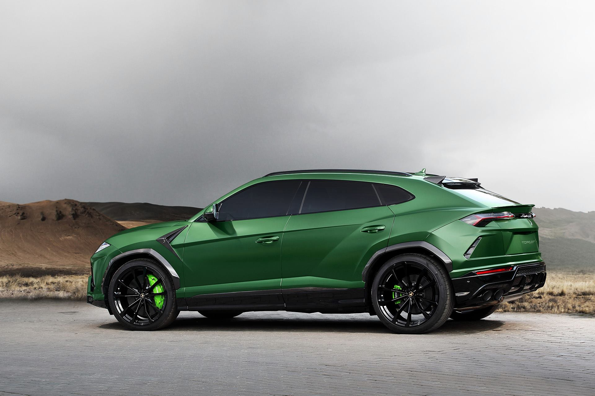 Military Green Lamborghini Urus Side View