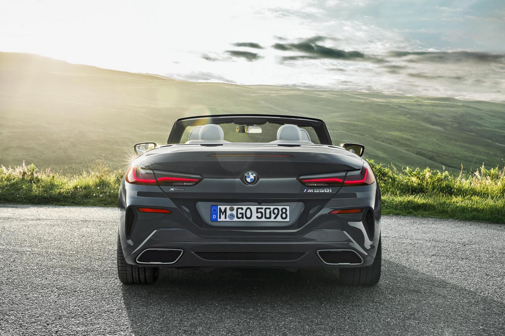 2019 BMW 8 Series Convertible Rear View