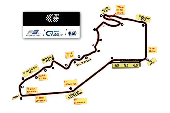 Macau Grand Prix Circuit Track Map