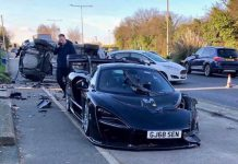 McLaren Senna crash in England
