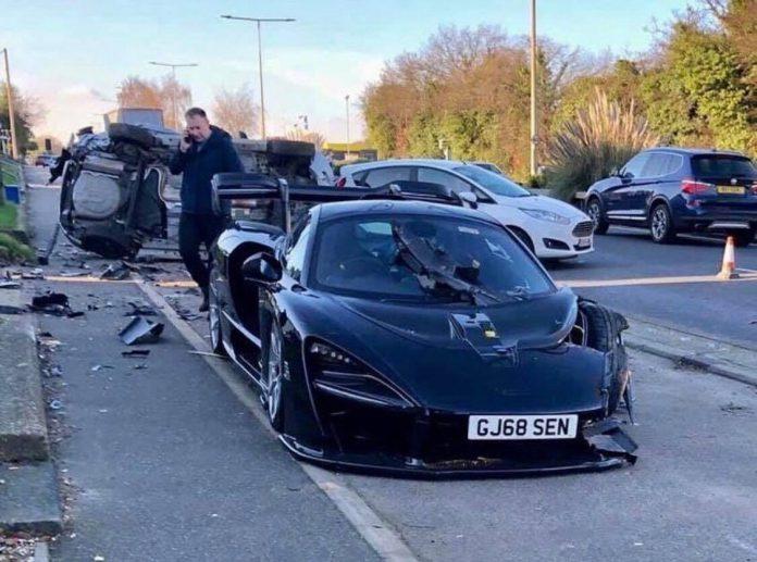 McLaren Senna crash in England