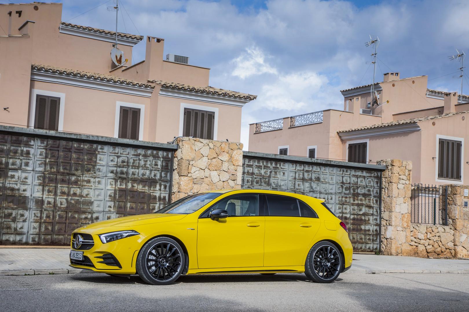 Sun Yellow Mercedes-AMG A35