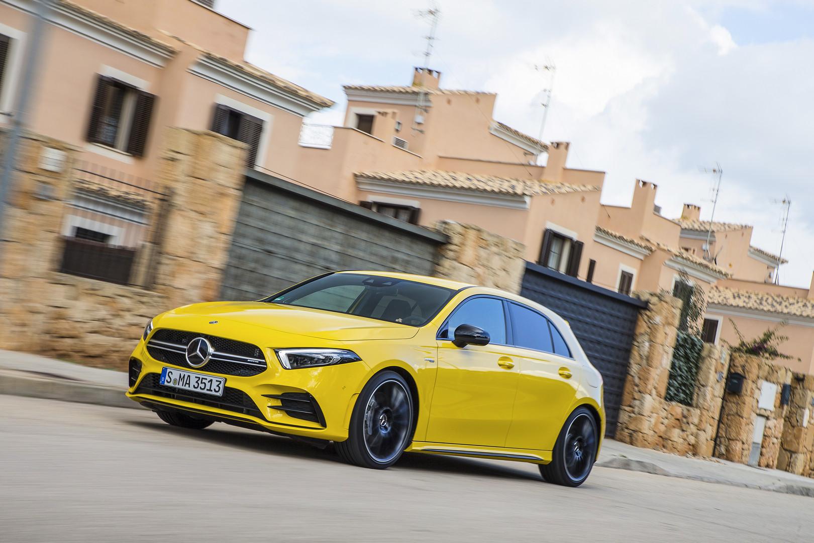 Sun Yellow Mercedes AMG A35