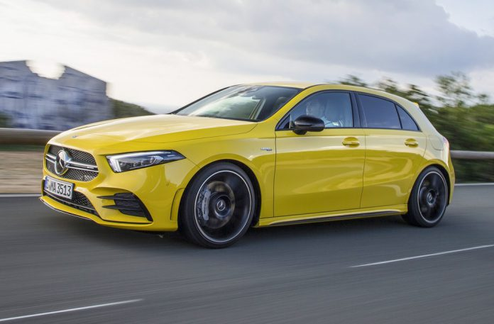 Sun Yellow Mercedes-AMG A35 2019