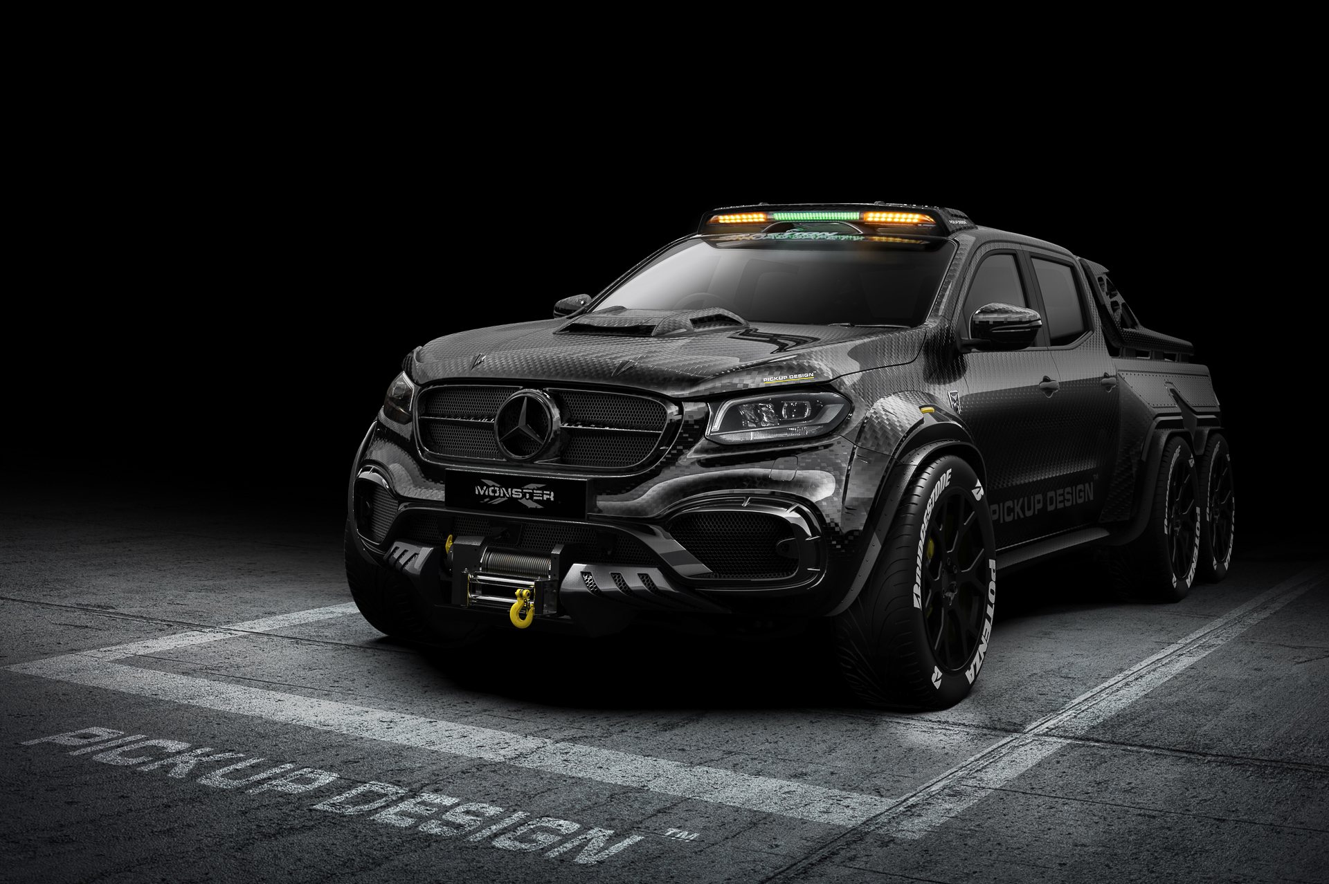 Full Carbon 6 Wheel Mercedes-Benz X-Class
