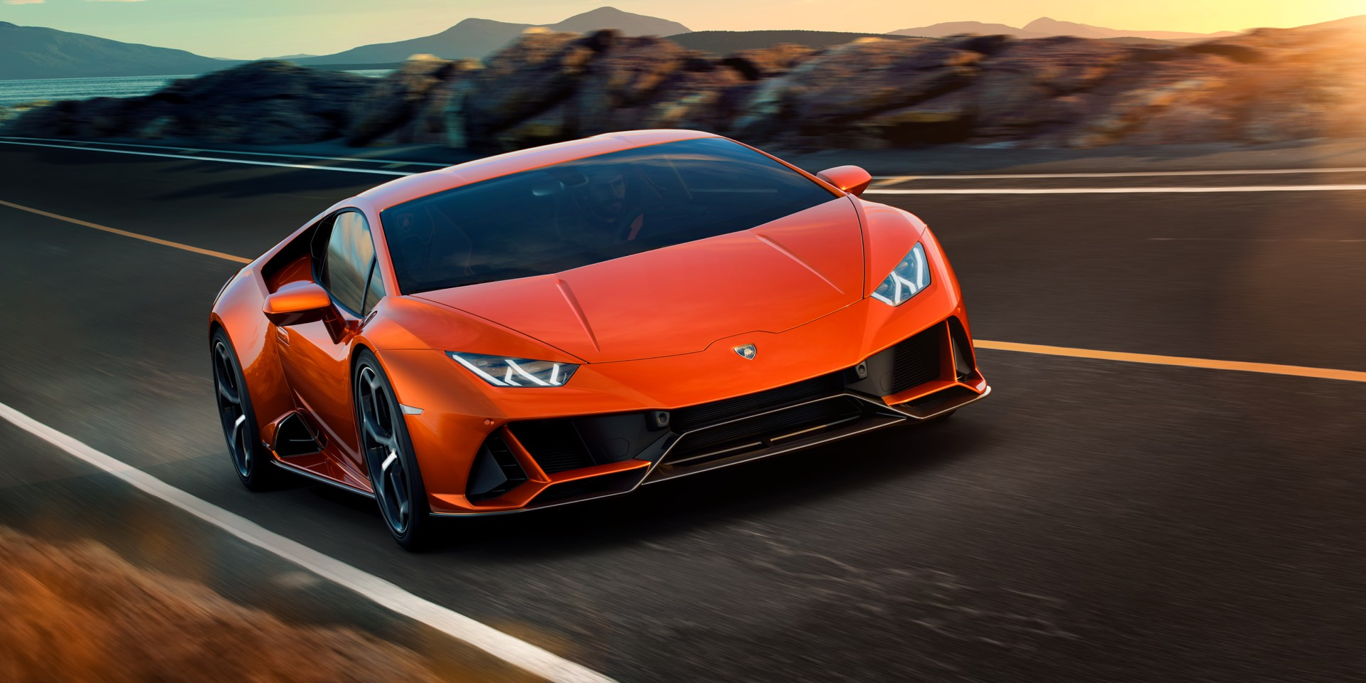Lamborghini Huracan EVO on the Road