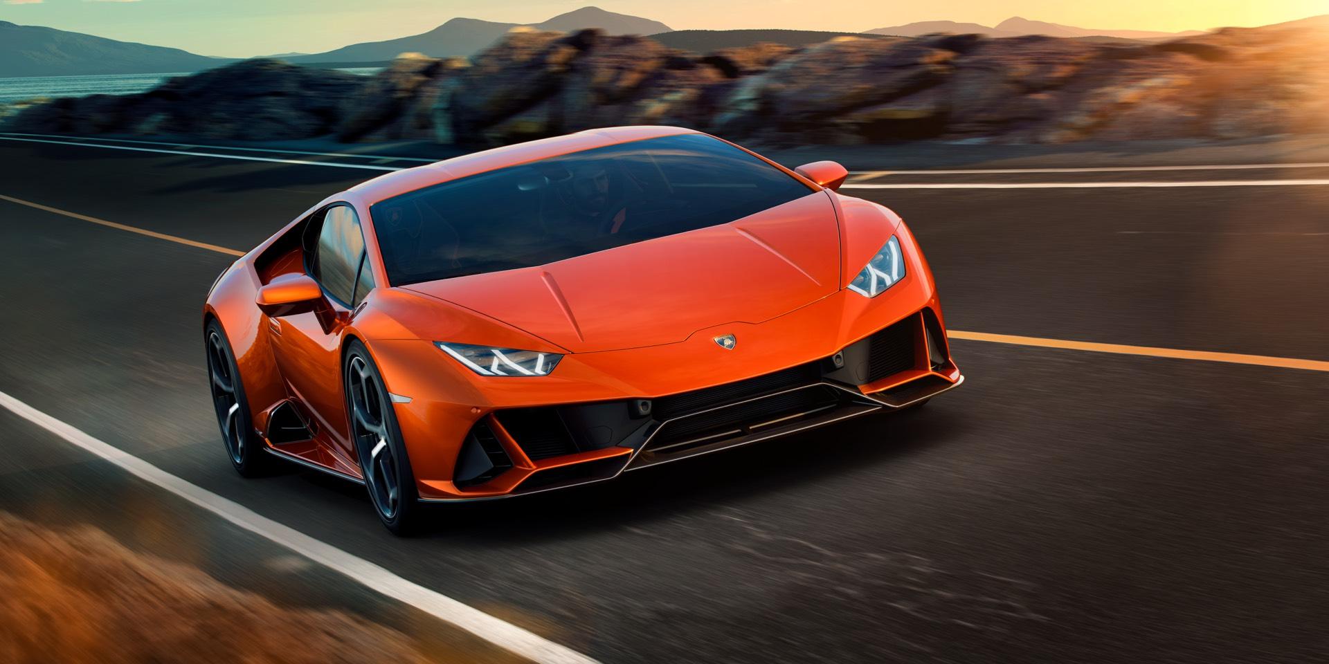 Lamborghini Huracan EVO on the Road