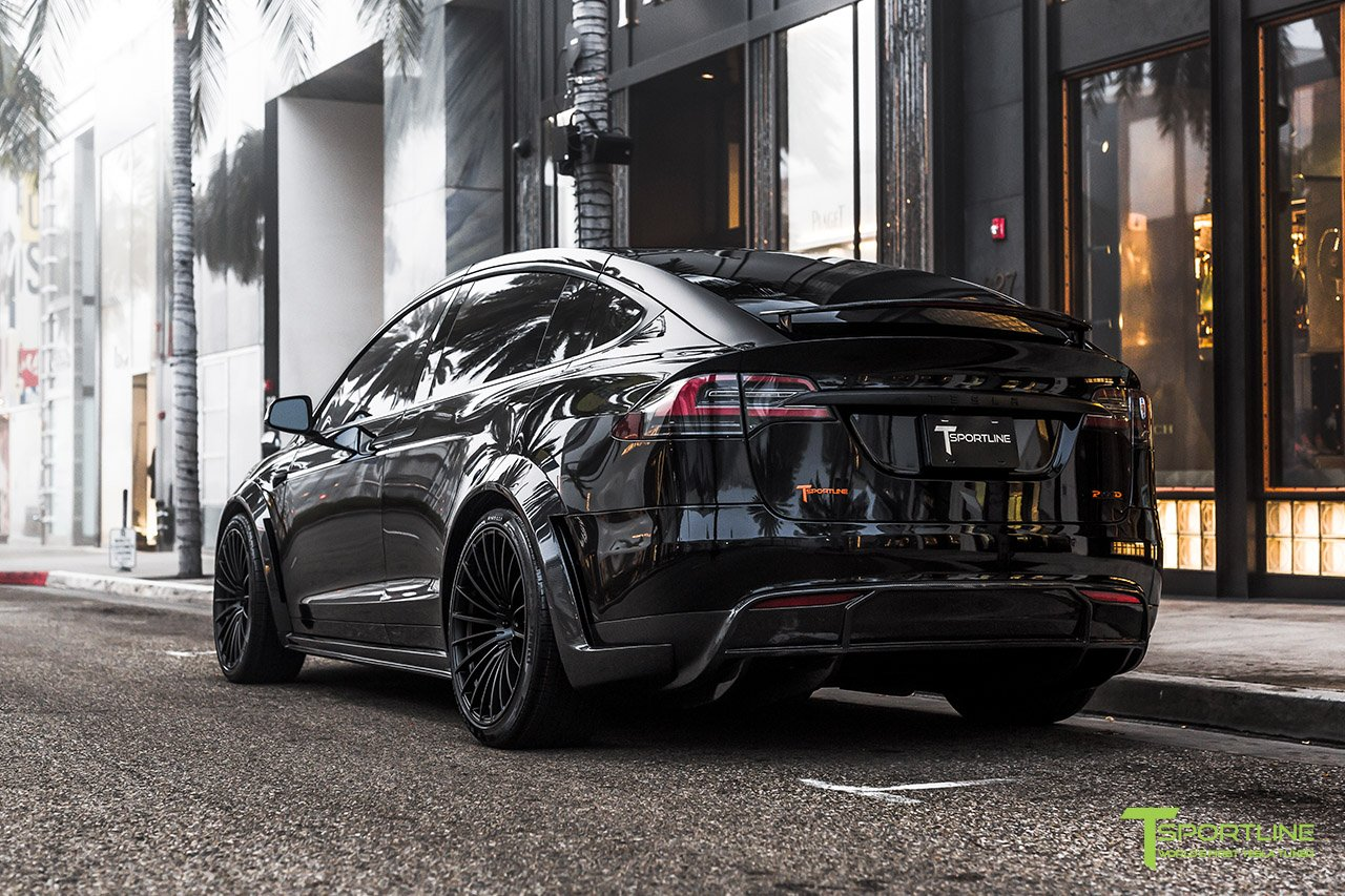 T Largo 7 Black And Orange Tesla Model X By T Sportline