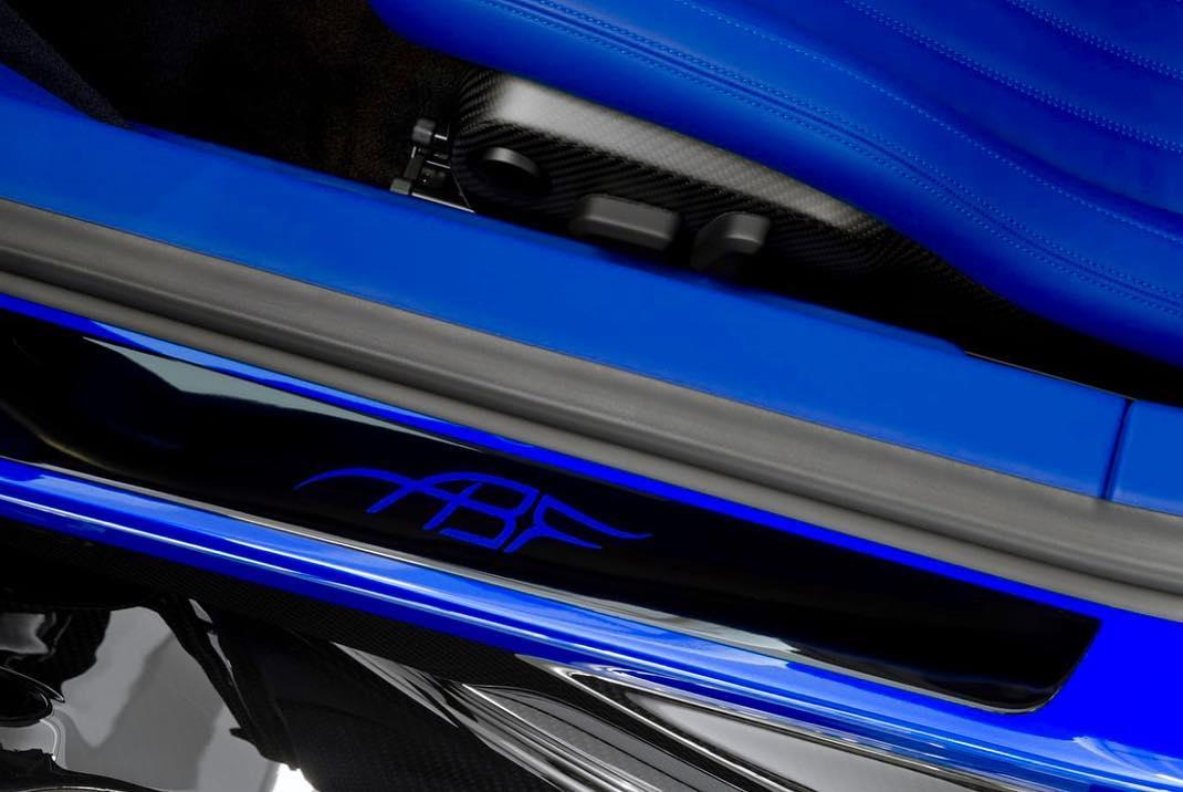 Blue Bugatti Chiron Sport