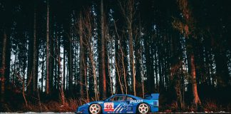 French Racing Blue Ferrari F40 LM