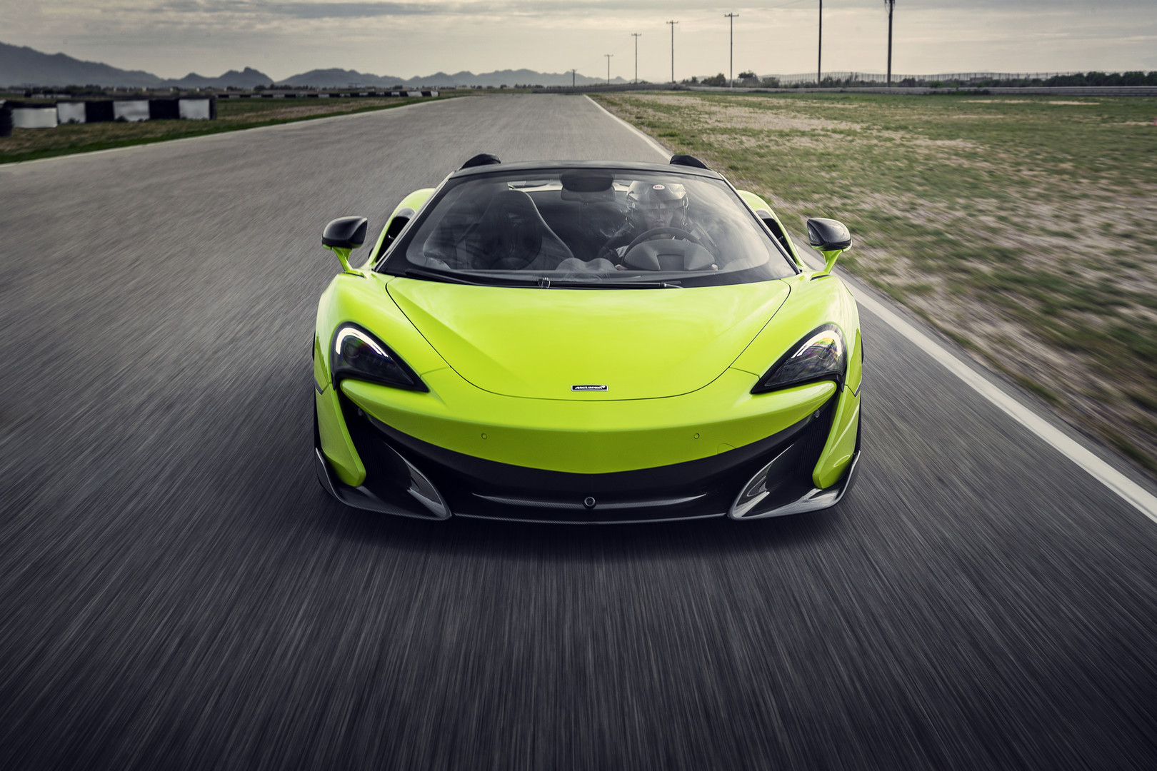 Green McLaren 600LT Spider