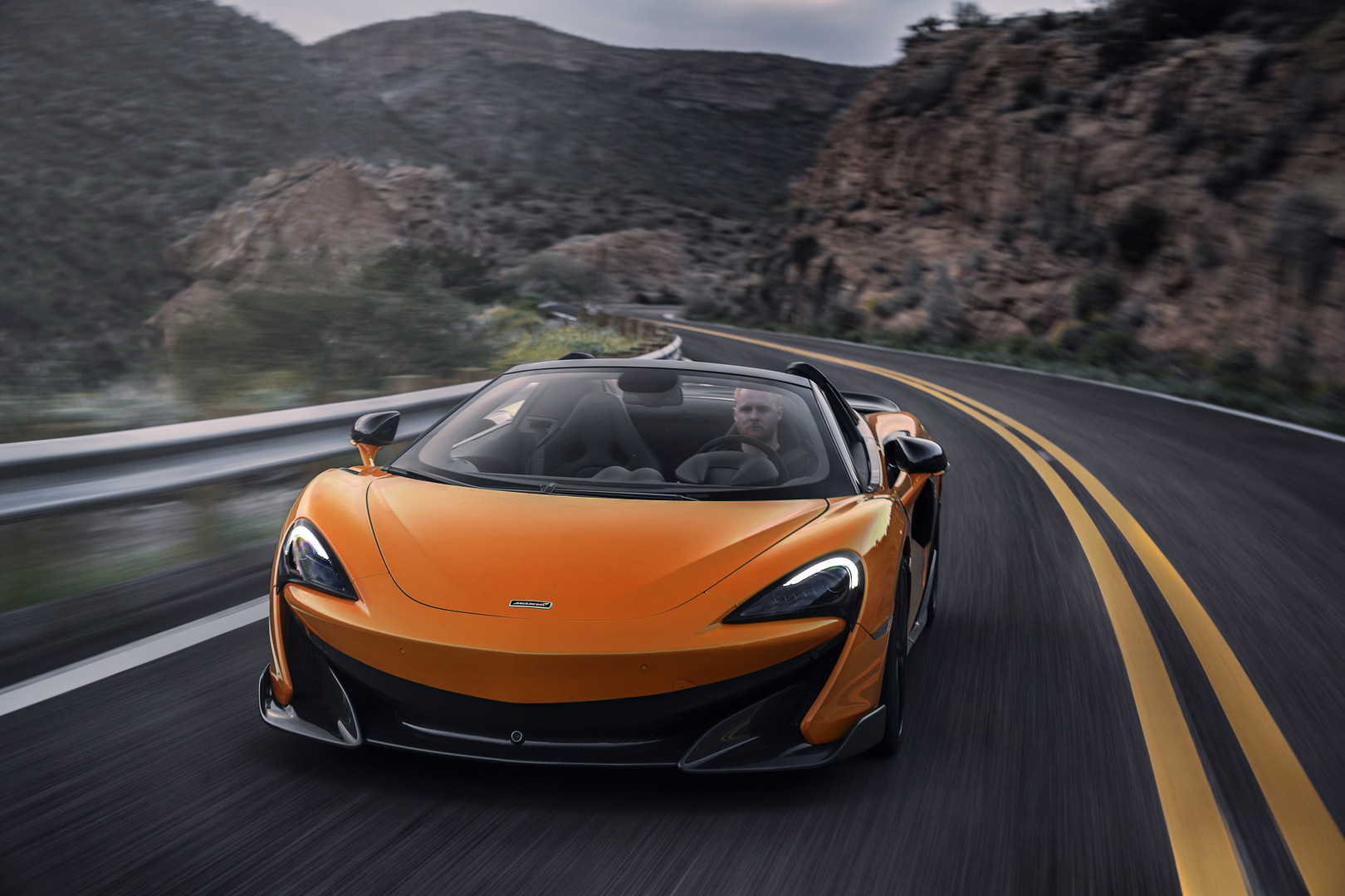 Orange McLaren 600LT Spider