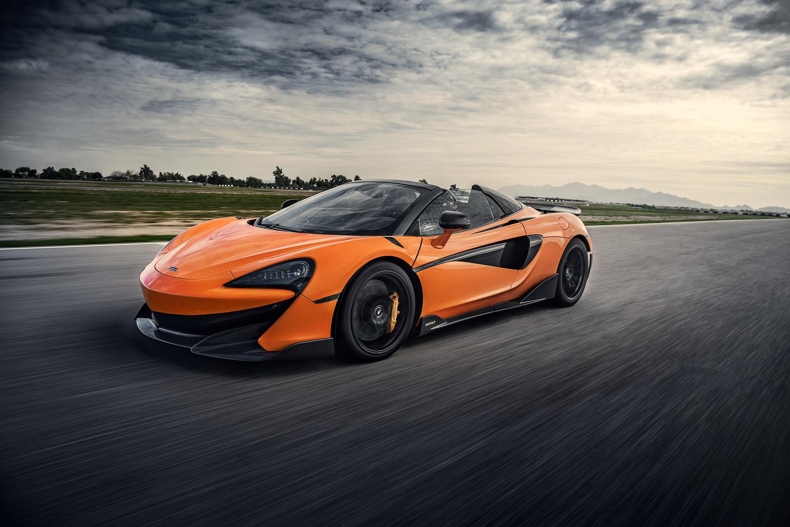 Orange McLaren 600LT Spider
