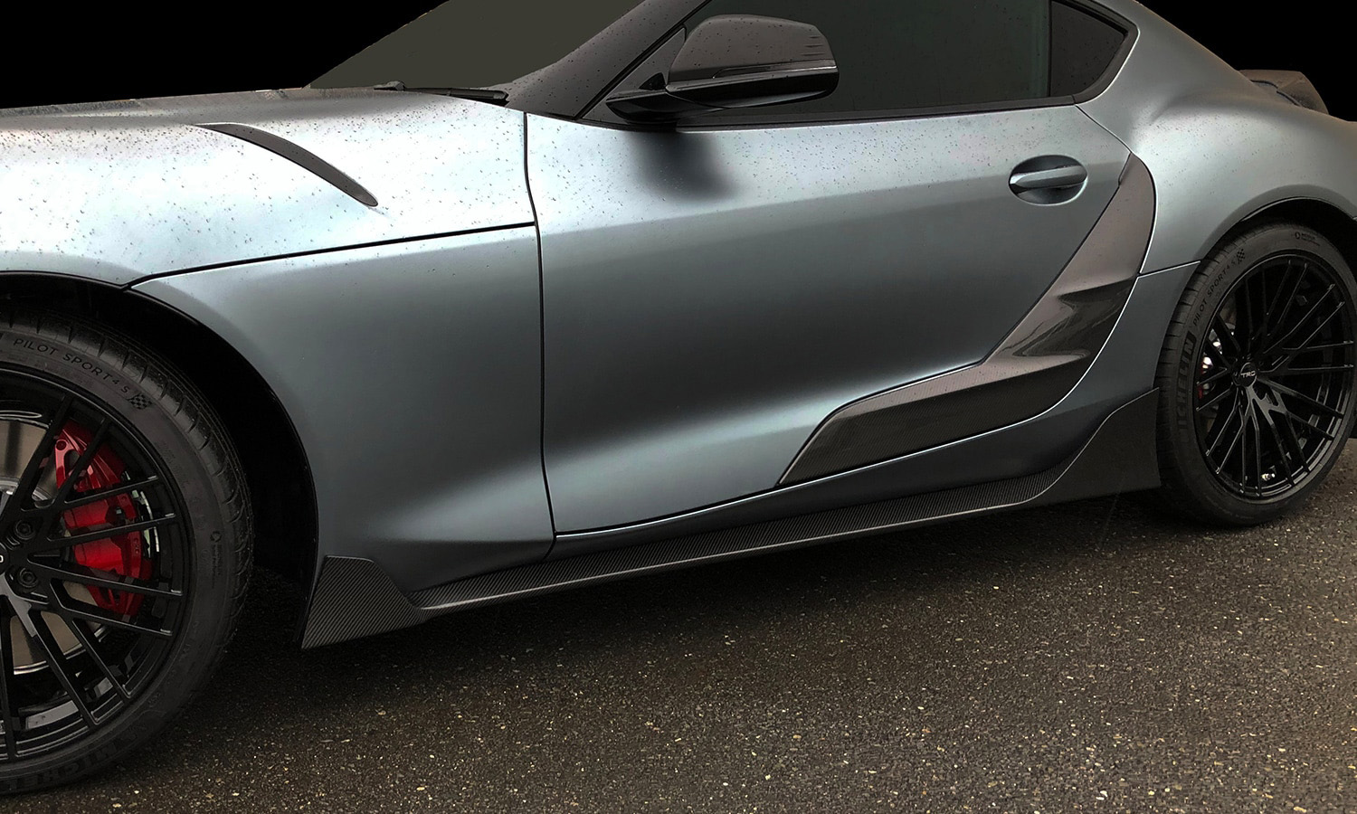 Carbon Side Skirts and Door Garnish