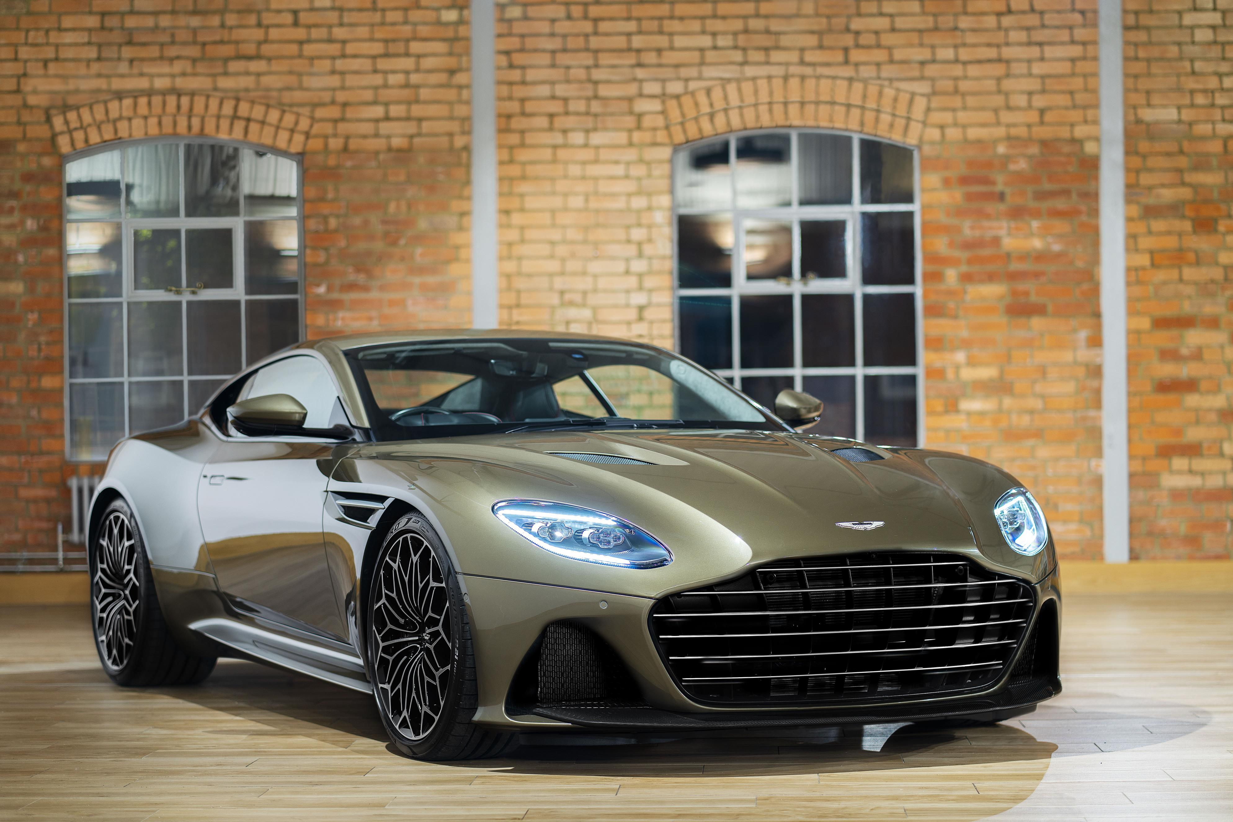 Olive Green Aston Martin DBS Superleggera
