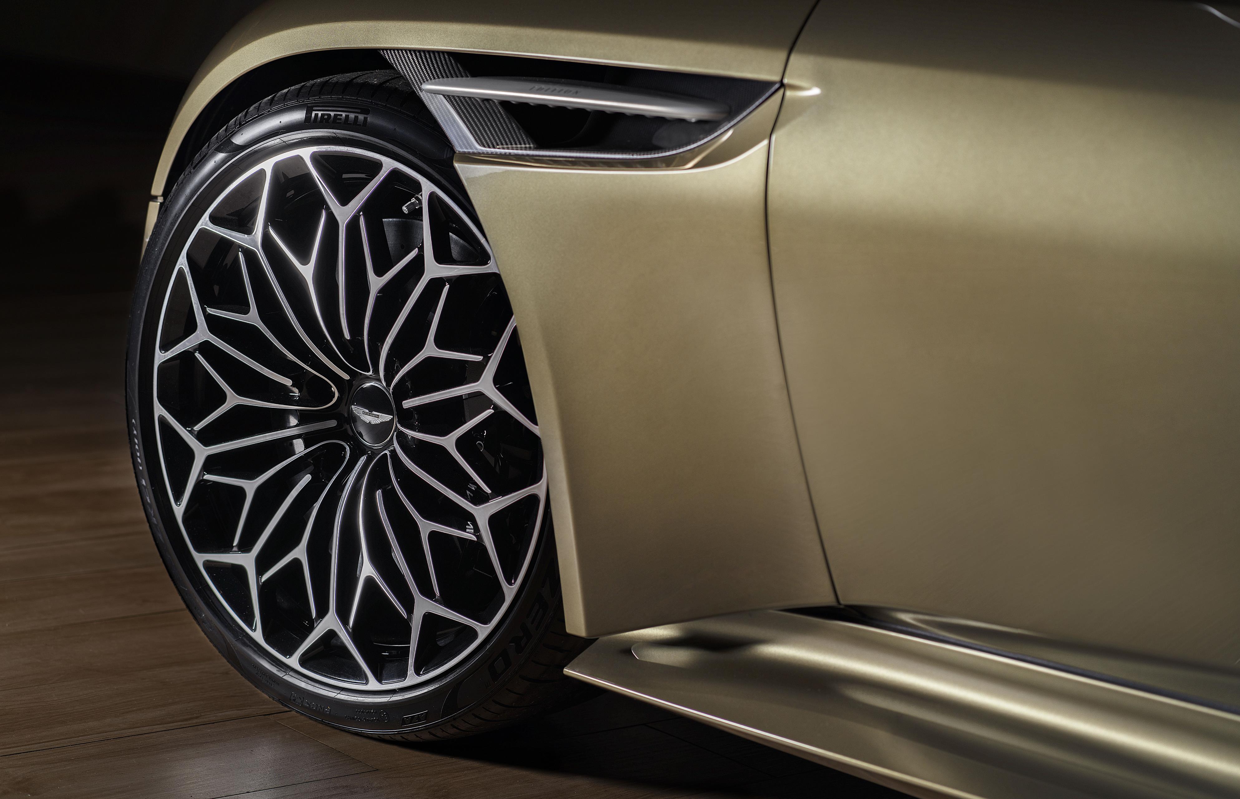 Olive Green Aston Martin DBS Superleggera Wheels