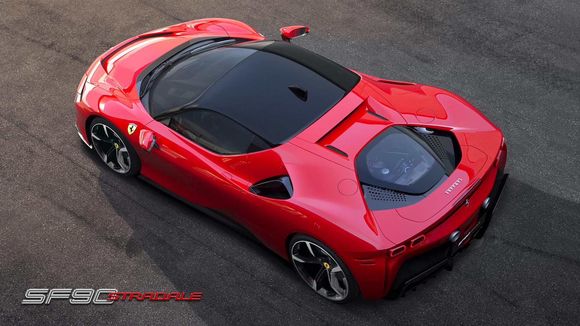 2020 Ferrari SF90 Stradale roof view