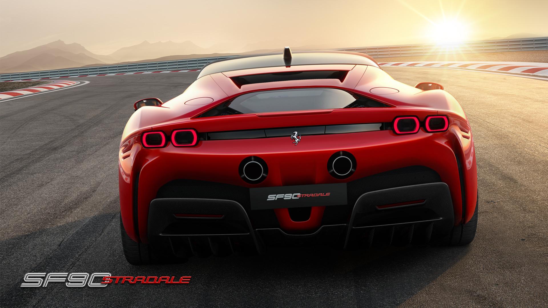 2020 Ferrari SF90 Stradale Rear View