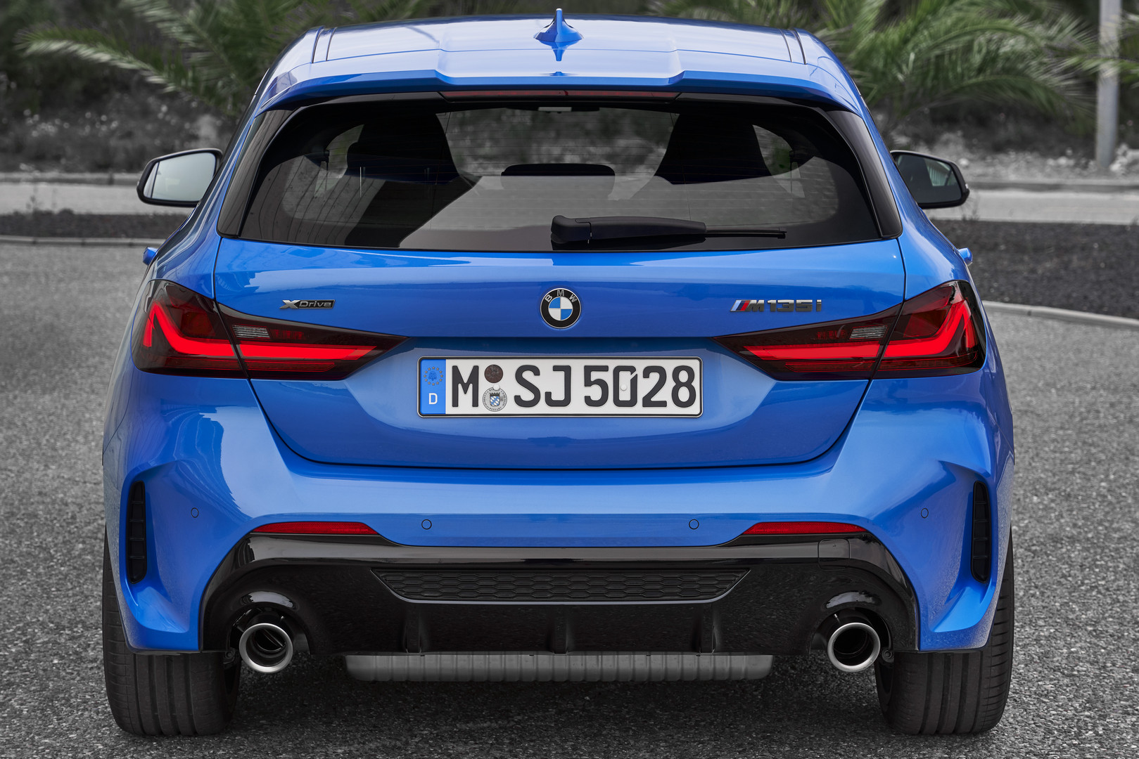 2020 BMW M135i Rear View
