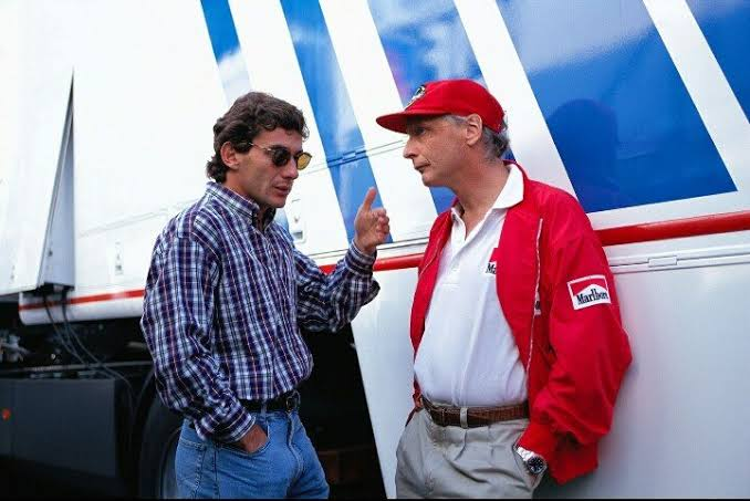 Niki with Senna just hours before fatal crash