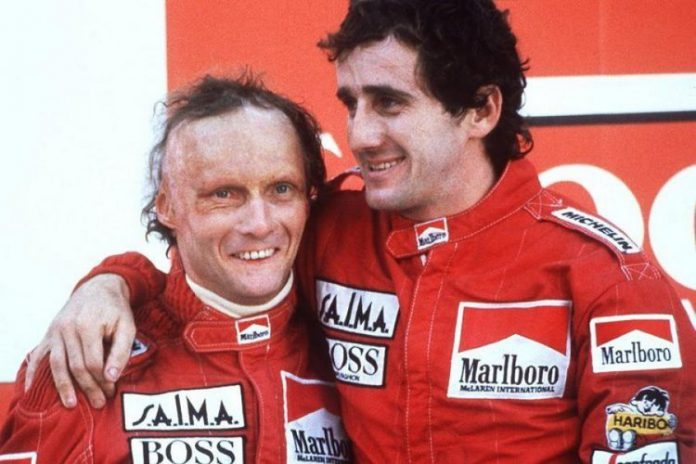Portugal 1984, Niki Lauda beats Alain Prost to F1 title.