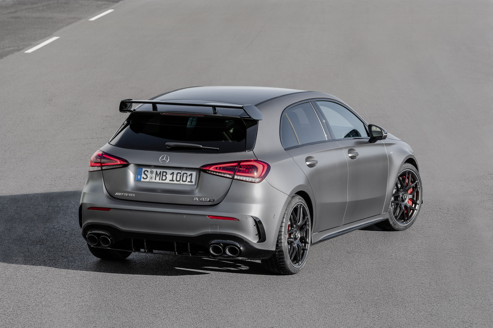 Matte Grey Mercedes-AMG CLA 45 S Rear